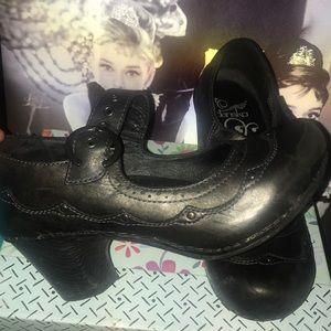 Dansko leather Mary Jane block heel leather clogs